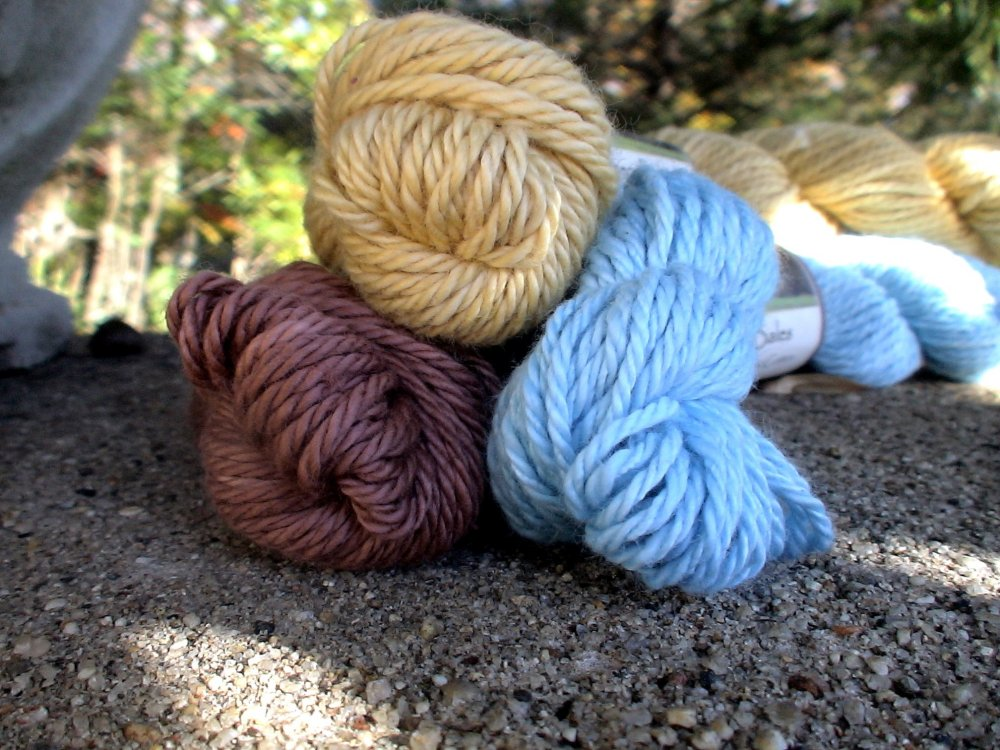Hand dyed organic cotton yarn