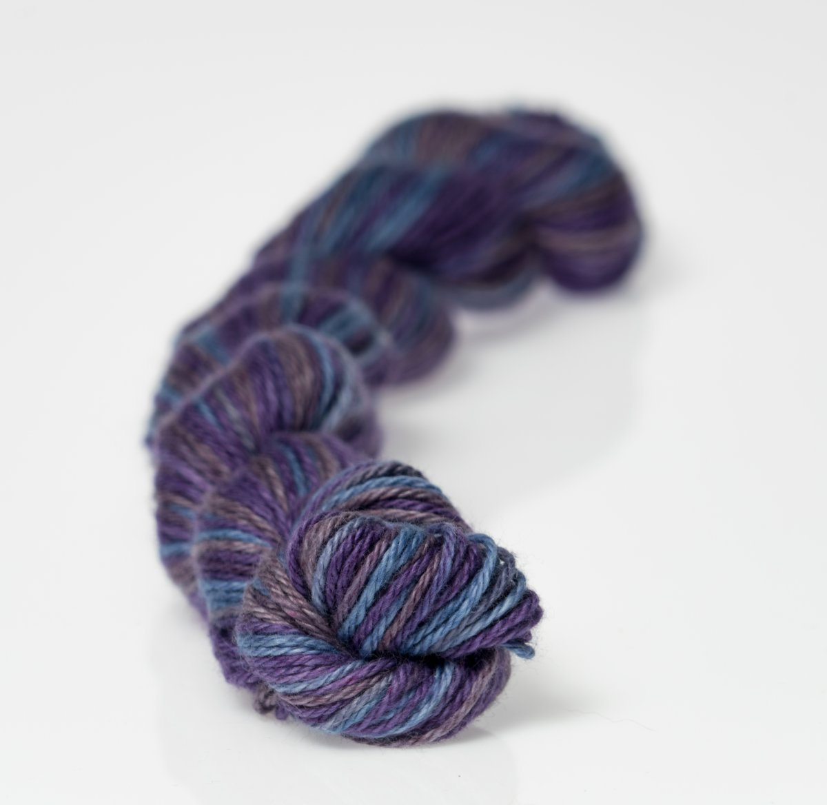 Heather Fingering Midnight Blue Multi