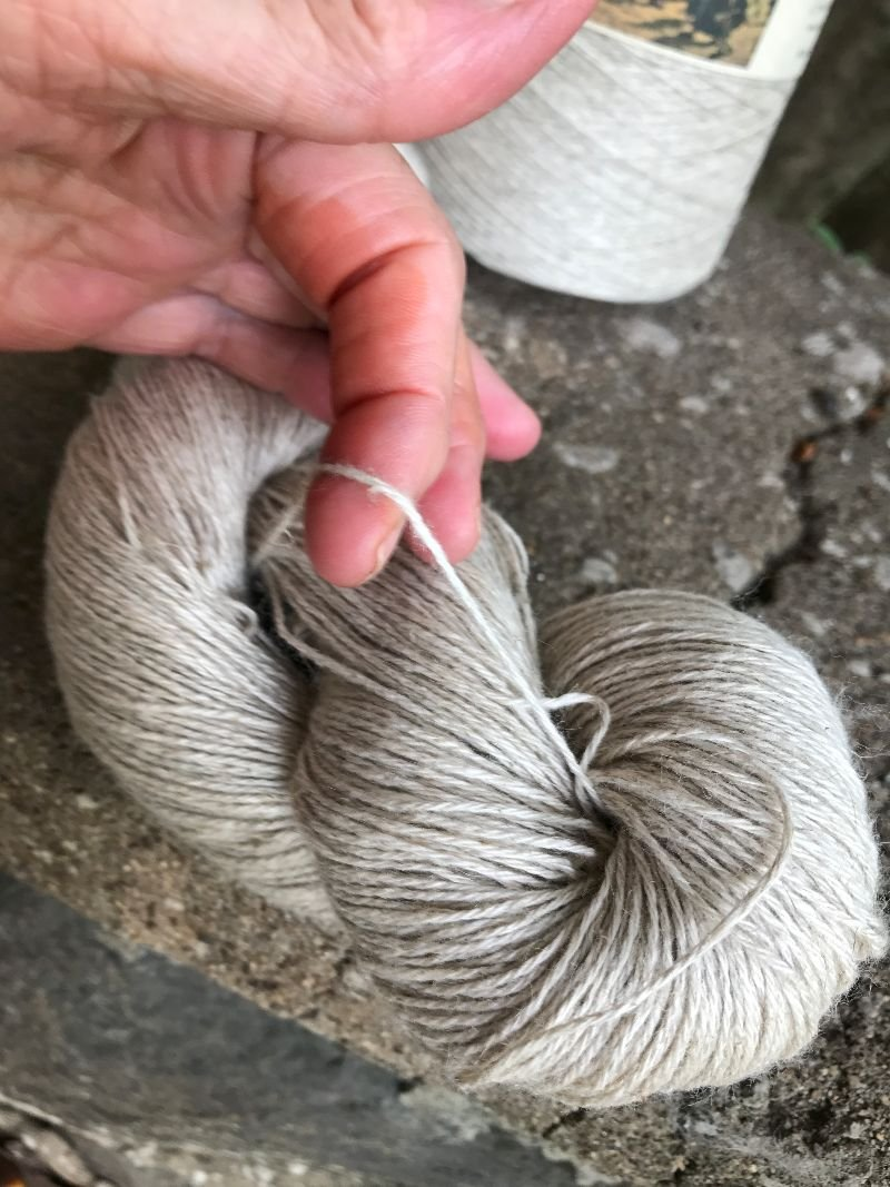 Cotton Linen Fingering Weight Yarn