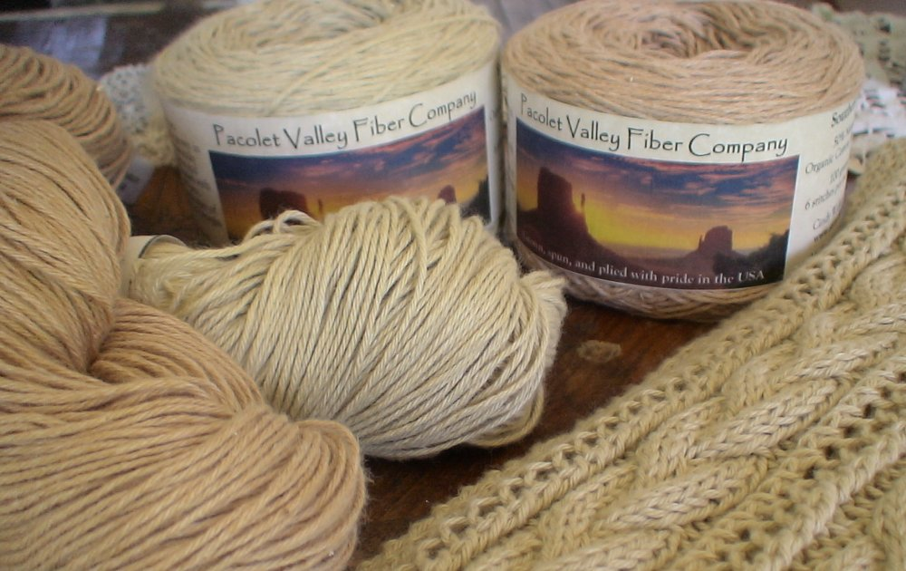 Naturally Colored Organic Cotton yarn
