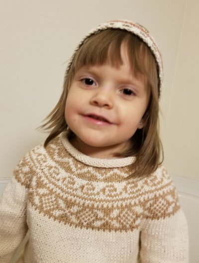 Knitted Yoke Baby Sweater