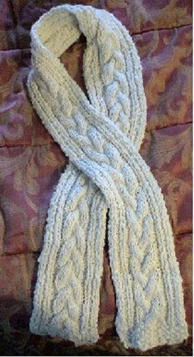 Cable Knit Scarf Pattern : BEGINNER KNITTING SCARF PATTERNS   Free Patterns