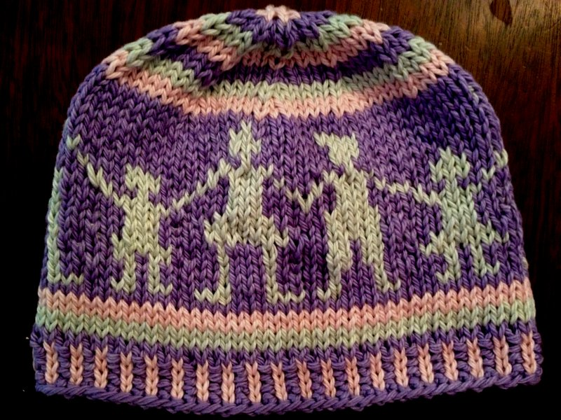 Fair Isle People Hat Purple