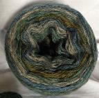 Pewter Green Long Run Colorway Heather Fingering