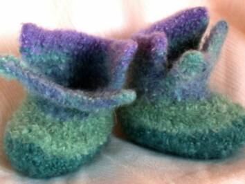 Felted High Top Baby Booties