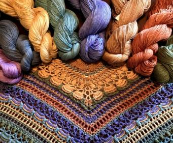Lost in Time shawl Yarns